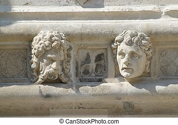 Heads, St. James Cathedral, Sibenik - Heads, Antique...