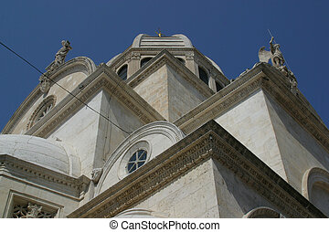 Cathedral of St. James in Sibenik, Croatia. UNESCO World...