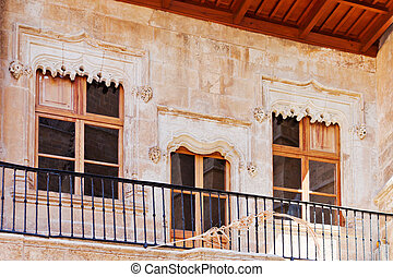Historical building - Detail of the balcony of a historical...