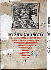 First page of medieval missal