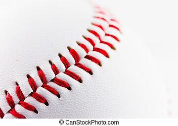 Baseball ball - A particular of a baseball ball