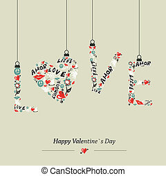 Love hanging word - Valentine day Love hanging word...