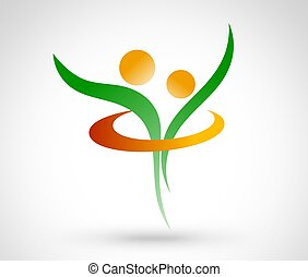 Health Life Logo design - abstract interpretation. colorful...
