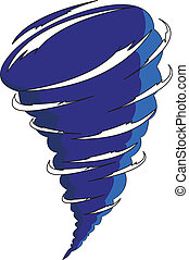 cartoon tornado isolated on the white background