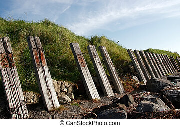 erosion protection - the sea barrier to protect against...