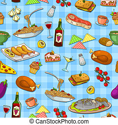 food pattern - seamless pattern with delicious food