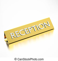 reception tag for information, hotels or service industry 3d...