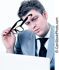 businessman concentrated at office