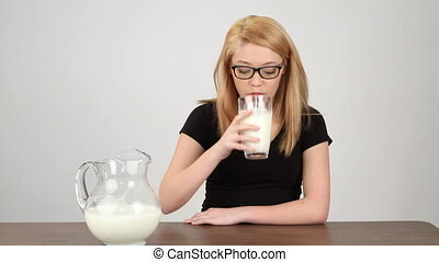 Teen Drinking Milk