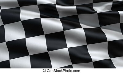 Slowly waving race flag