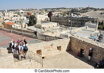 The Jewish Quarter in Jerusalem Israel - JERUSALEM - NOV...