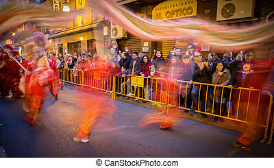 Chinese new year - VALENCIA - FEBRUARY 2: Several...