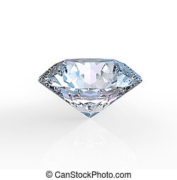 Diamond - diamond solitaire on a white background