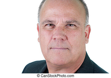 Headshot emotional male man senior