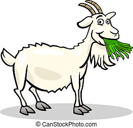 goat farm animal cartoon illustration - Cartoon Illustration...