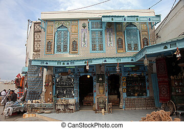 Old Tunisian house with classical Arab ornaments