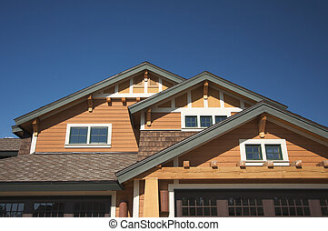 Real Estate New Home - Colorful New Home Construction...