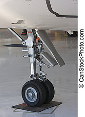 Detail of Jet Landing Gear - Detail of Private Jet Landing...