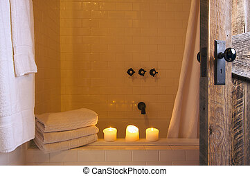 Rustic Bathroom Scene