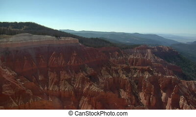 panning shot at Cedar breaks national Monument
