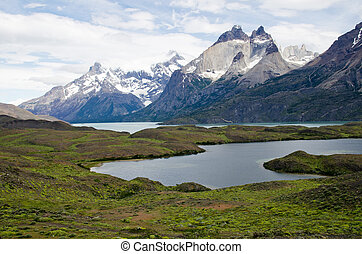 Cuernos del Paine Horns of Paine, Torres Del Paine National...