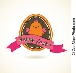 Easter vintage style greeting card