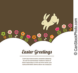 Easter vintage style greeting card - Easter greeting card...