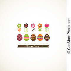 greeting card with floweres