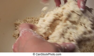 Knead bread - Video of Hands in action - Knead bread