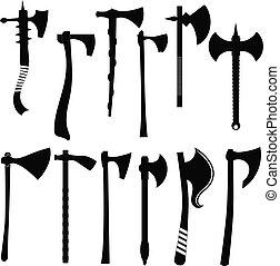 Set battle axes