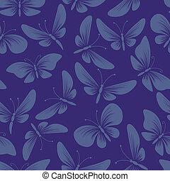 night moth butterflies seamless background