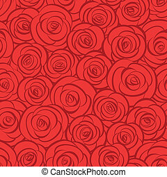 Seamless abstract red roses background