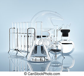 Equipment for chemistry experiments - Various chemical...