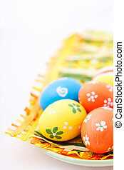 Hand painted Easter eggs - Colorful hand painted Easter eggs...