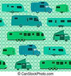 Camping Pattern - Caravans and Motorhomes as a pattern...