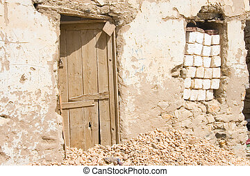 Poverty in the Houses of Baharyas oasis Egypt