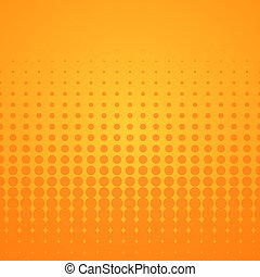 Orange Halftone Pattern - Bright disco background with...