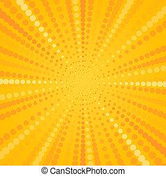 Yellow Halftone Star