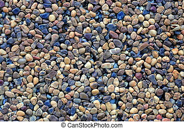 Pebble Paving Background - Abstract Background Texture Of...