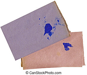 Old blotting paper - Two leaves of an old blotting paper...