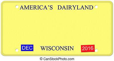 Blank Wisconsin Imitation License Plate