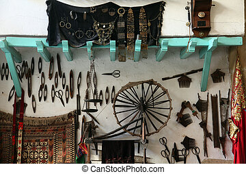 Arabic coffee bar, Sousse, Tunisia - Interior of Arabic...