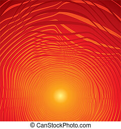 Hot Red Abstract Background. Vector Image