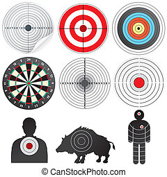 Set of Vector Targets and Dummies. - Vector Targets Set....