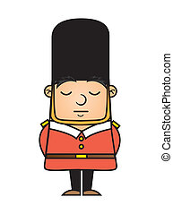 london guard isolated over white background vector...