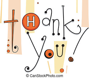 Thank You Card Buttons - Illustration of a Thank You Card...