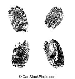 Fingerprints - Four different styles of fingerprints in...