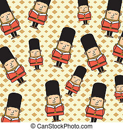 london guard pattern over beige background vector...