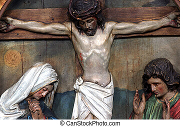 Jesus dies on the cross - 12th Stations of the Cross, Jesus...