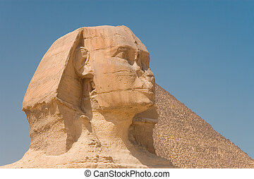 Gizas great sphinx in the Cairo - Gizas great sphinx in the...